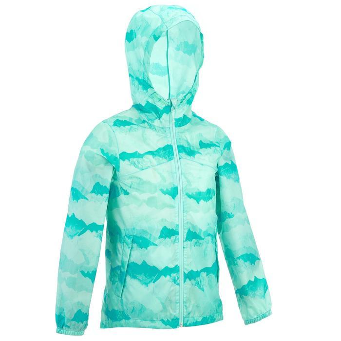 Veste imperméable de randonnée enfant Hike 150 gris imprimé tribal - 1258240