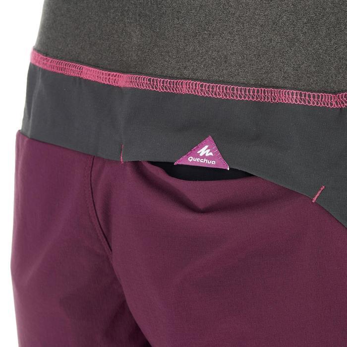 ca23907f4 Pantalón corto Short de montaña niños 7-15 años MH500 Ciruela