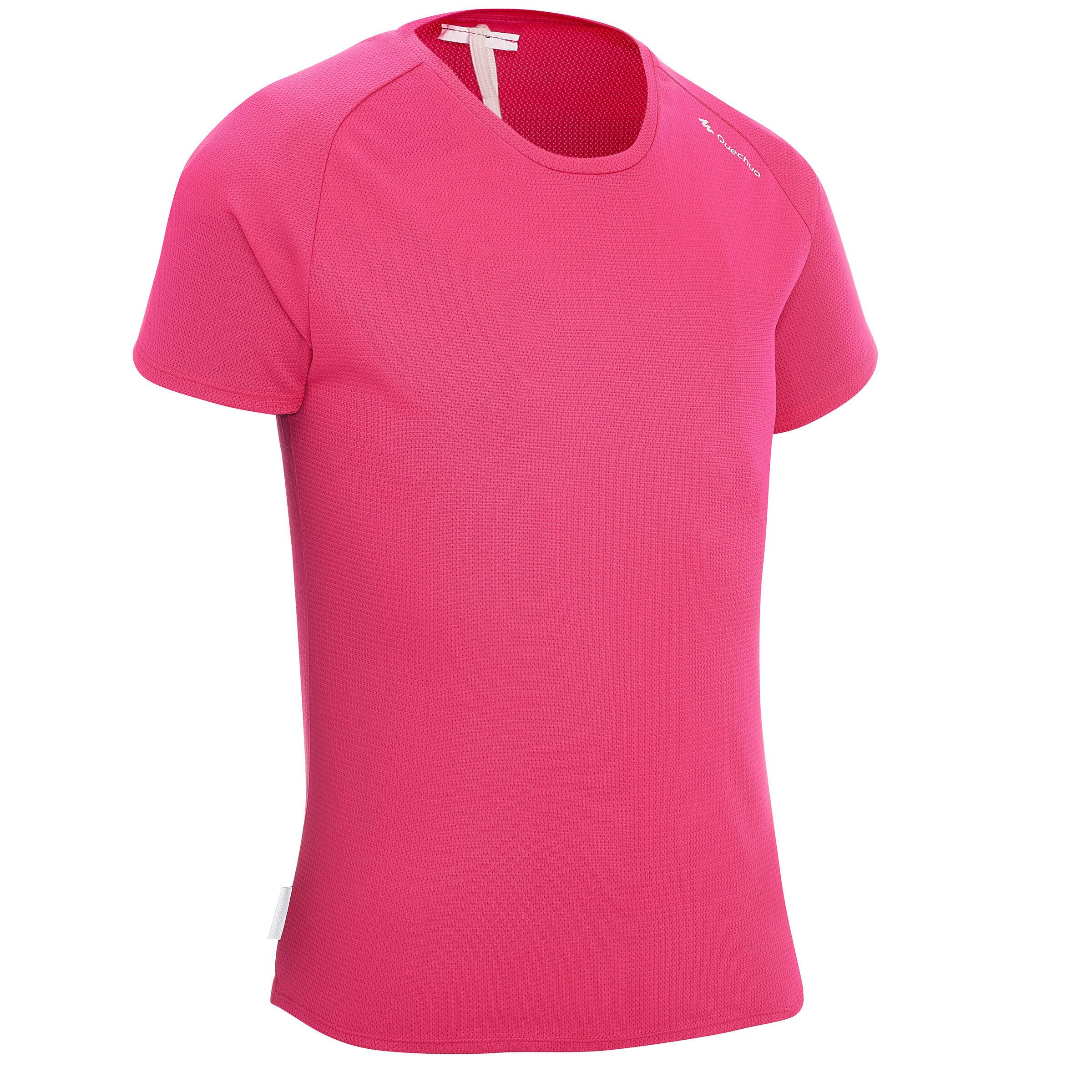 Camiseta de senderismo niña Hike 100 rosa