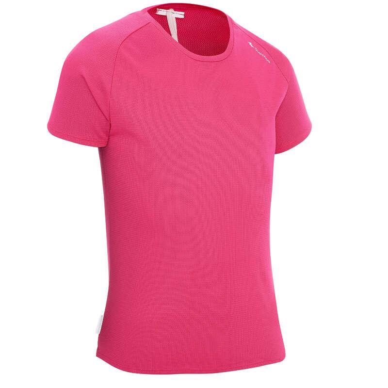 SHORTS T-SHIRTS HATS REGULAR 7-15 yrs Hiking - MH500 girls' t-shirt - Pink QUECHUA - Hiking Clothes