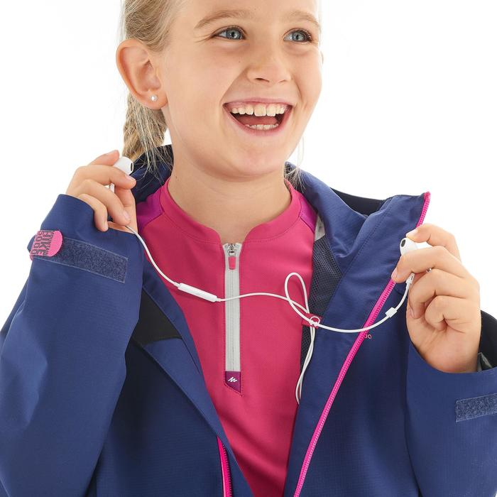 Veste de randonnée enfant MH550 Bleu fonce