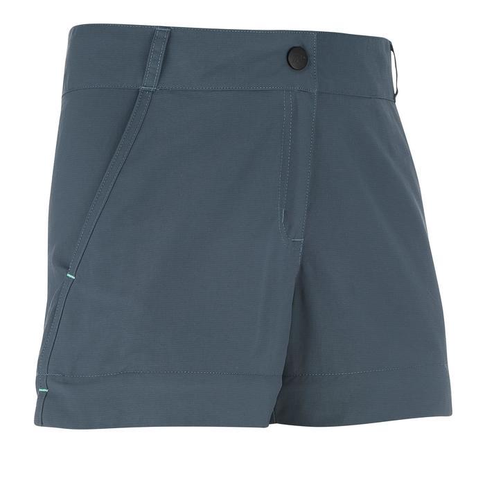 Pantalón transformable de senderismo júnior MH550 gris oscuro