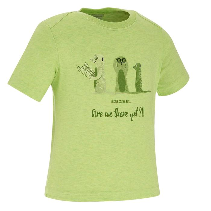 Hike 500 Children's Boy's Hiking T-Shirt – Blue - 1258253