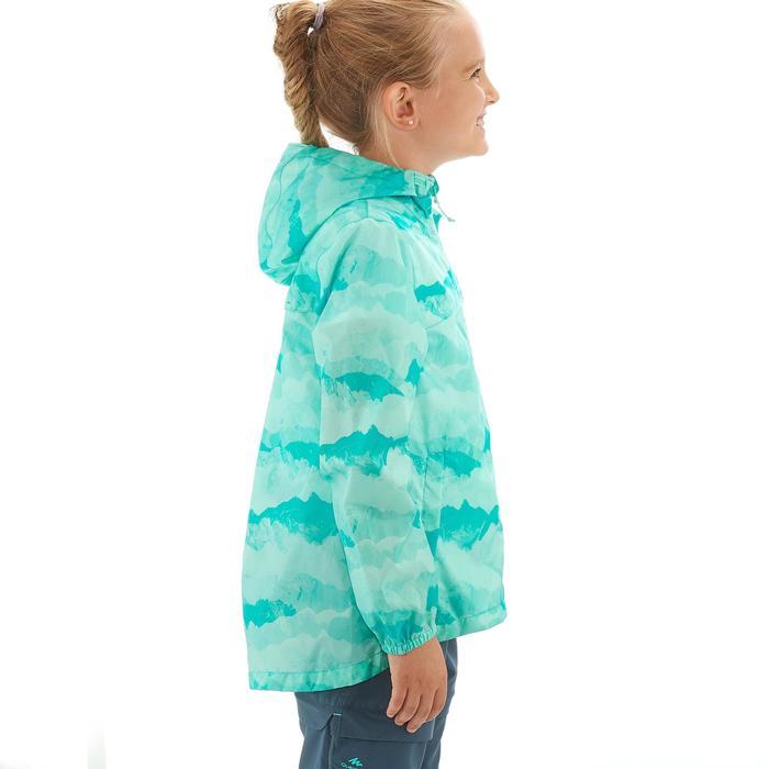 Veste imperméable de randonnée enfant Hike 150 gris imprimé tribal - 1258254