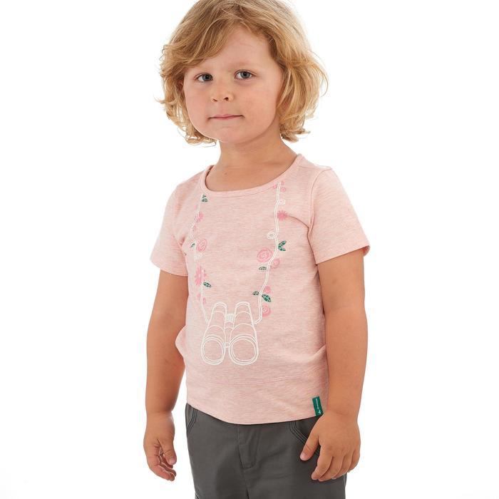 T-SHIRT de randonnée enfant Hike 500 lunettes rose