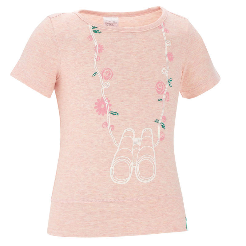 Hike 500 T-shirt Hiking Anak - Pink