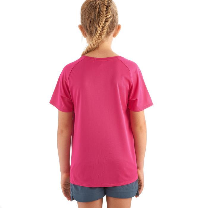Camiseta Manga Corta de Montaña y Trekking Quechua Hike 100 Niños Rosa