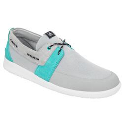 Zapatos náuticos hombre Cruise 100 gris turquesa