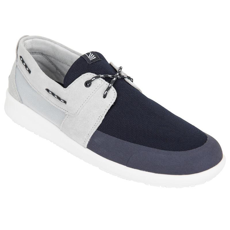 Chaussures bateau homme Sailing 100 Gris bleu