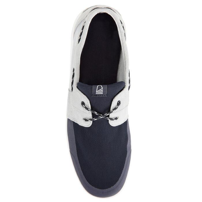 100 男士航海帆船鞋 灰色/ 藍色