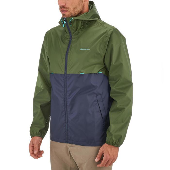 Coupe pluie Imperméable randonnée nature homme Raincut zip marine - 1258331