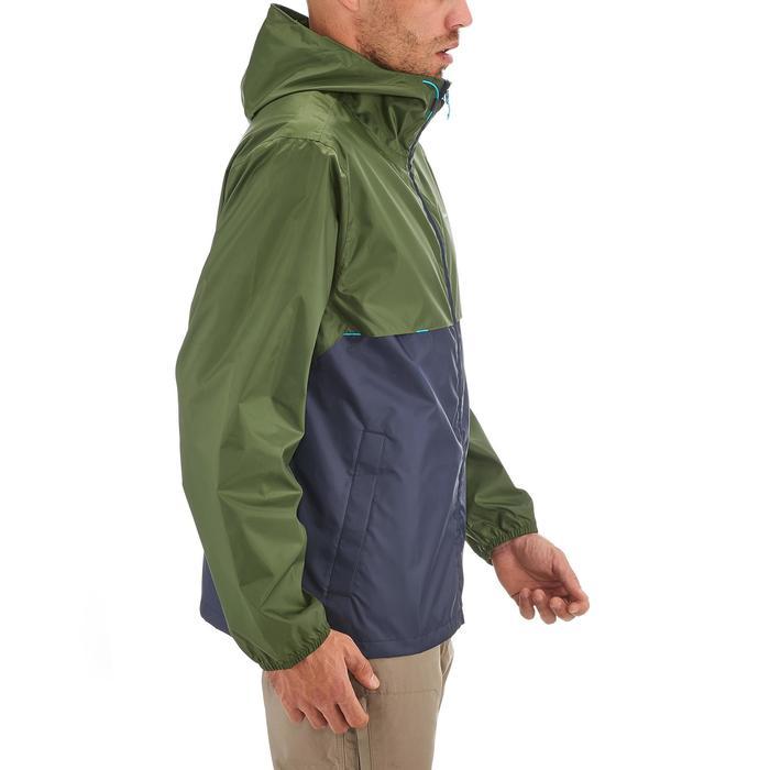 Coupe pluie Imperméable randonnée nature homme Raincut zip marine kaki