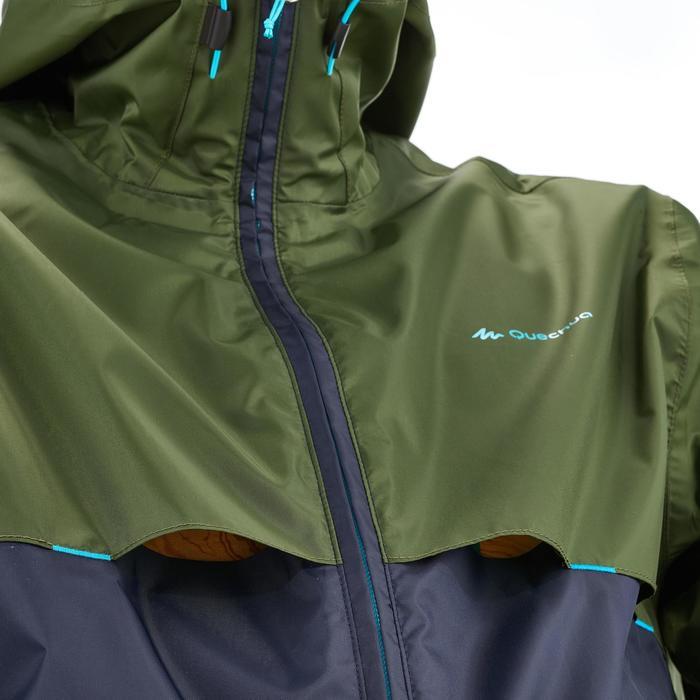 Coupe pluie Imperméable randonnée nature homme Raincut zip marine - 1258348