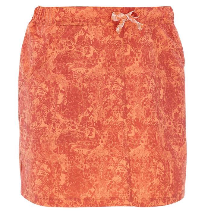 Falda-short senderismo en la naturaleza mujer NH100 naranja