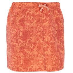 Shortrokje voor wandelen dames NH100 oranje