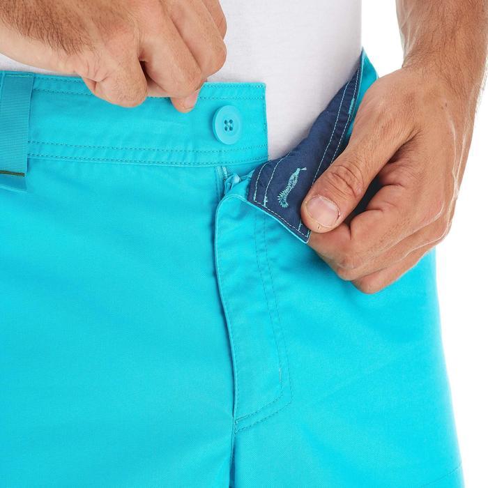 Pantalón corto senderismo naturaleza NH500 azul turquesa hombre