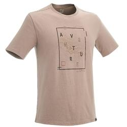 Camiseta senderismo en la naturaleza hombre NH500 beige