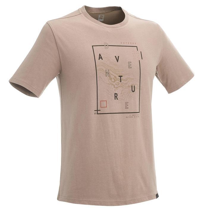 Tee shirt randonnée nature homme NH500 chiné - 1258378