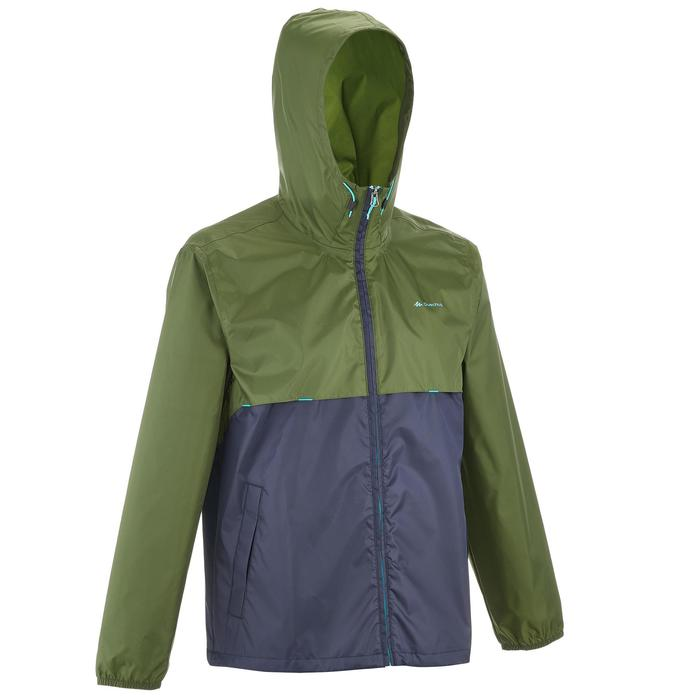 Coupe pluie Imperméable randonnée nature homme Raincut zip marine - 1258385