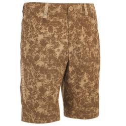 Men's Country Walking shorts NH 500 - Brown Camo