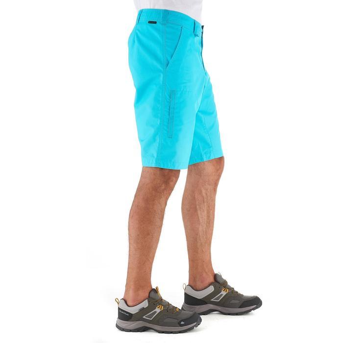 Pantalón corto de senderismo en la naturaleza hombre NH500 turquesa