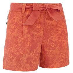 Women's nature NH500 hiking shorts - orange
