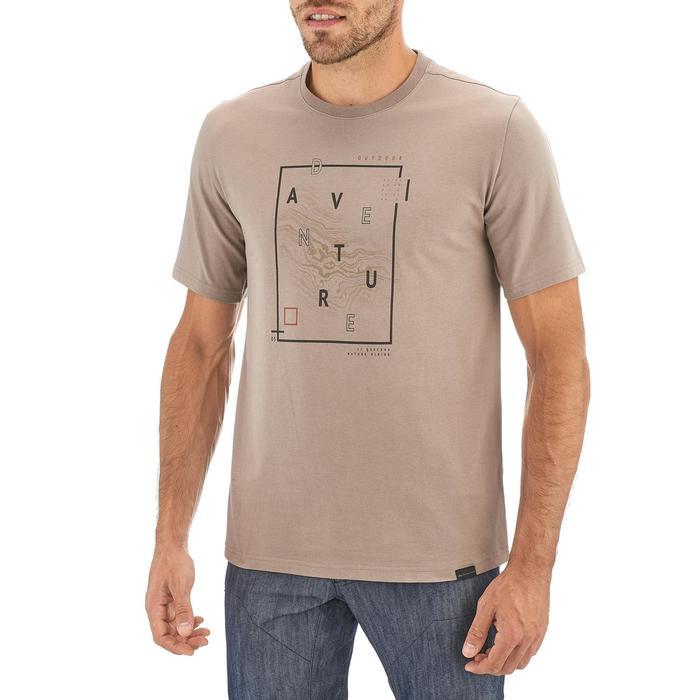 Tee shirt randonnée nature homme NH500 chiné - 1258437