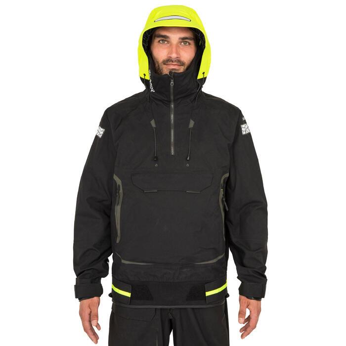 Zeiljas smock jacket voor heren voor wedstrijdzeilen Offshore 900 zwart