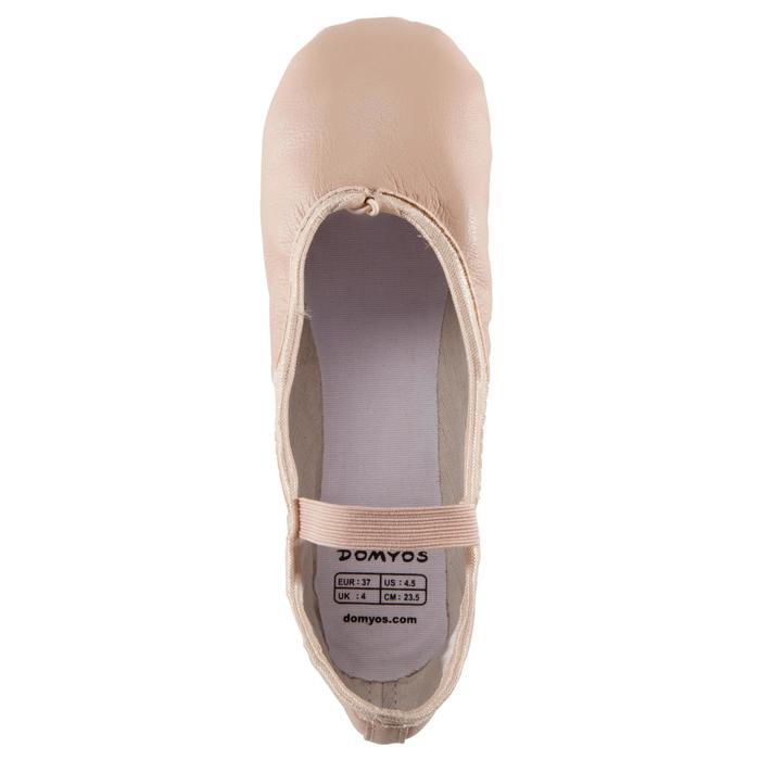 Zapatillas Ballet Domyos Piel Suela Entera Salmón