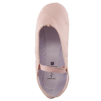 حذاء باليه Demi pointe مصنوع من الجلد - رمادي