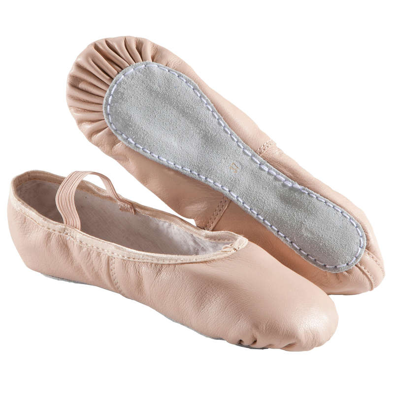 BUTY DO TAŃCA KLASYCZNEGO Taniec - Baletki skórzane DOMYOS - Fitness