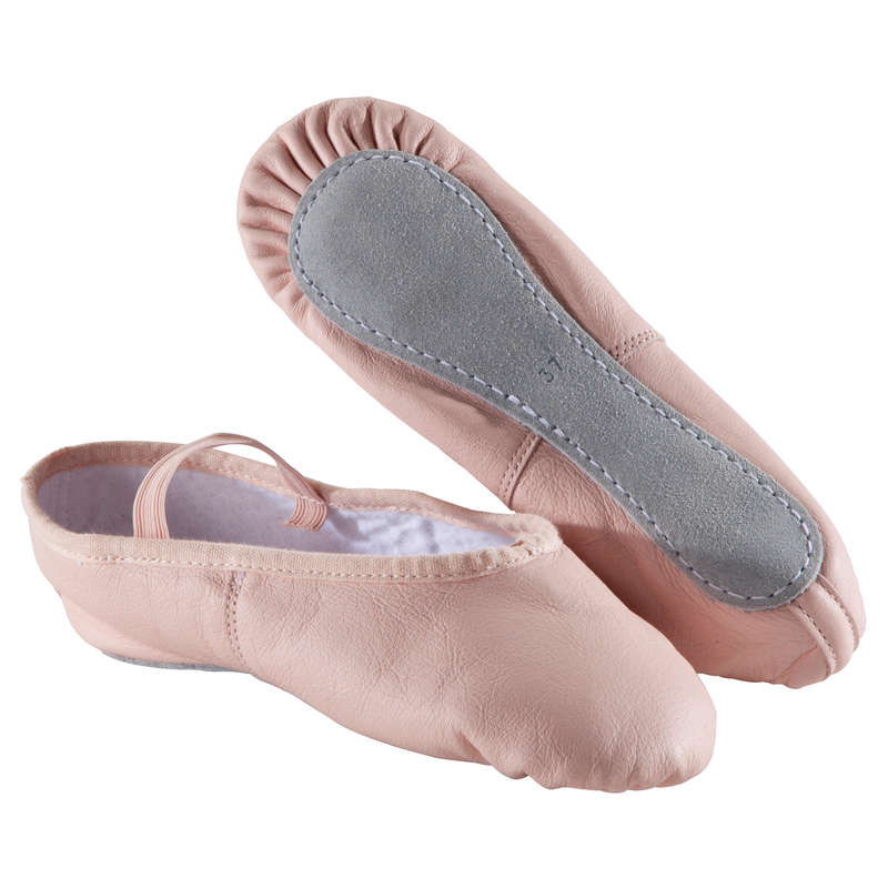 SKOR FÖR KLASSISK BALETT Dans - Tekniksko i läder rosa DOMYOS - Fitness, Gym, Dans 17