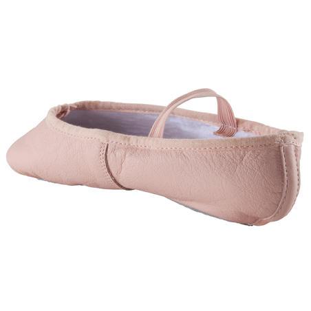 נעלי דמי פוינט מעור - ורוד