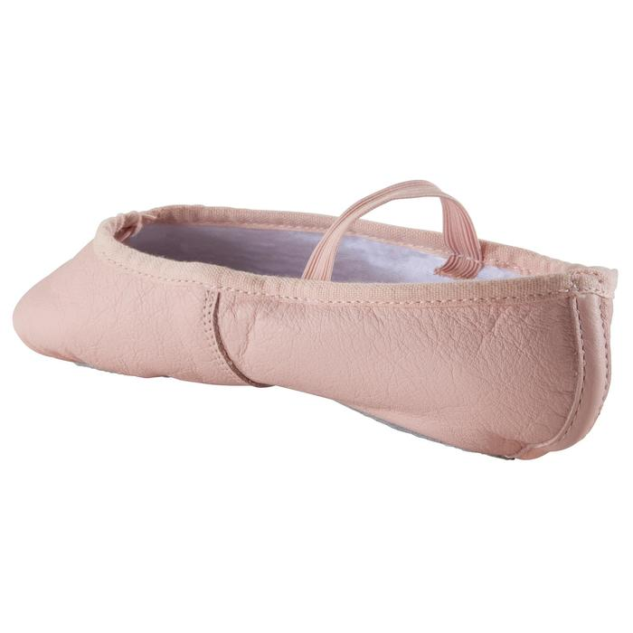 皮革軟足尖鞋 - 粉紅色