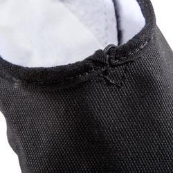 Medias puntas tela con doble suela negro
