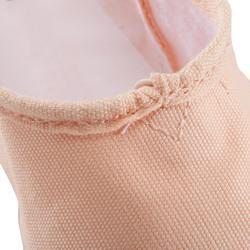 Ballettschuhe Halbspitze geteilte Sohle Damen und Mädchen Leinen lachsfarben