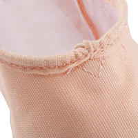 Zapatillas de ballet con puntas de tela y doble suela. Color salmón