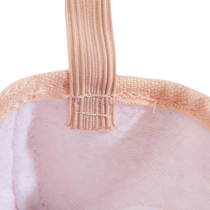 Medias puntas de tela con doble suela salmón