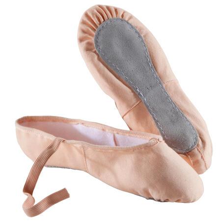 Woven Demi-Pointe Ballet Shoes - Salmon