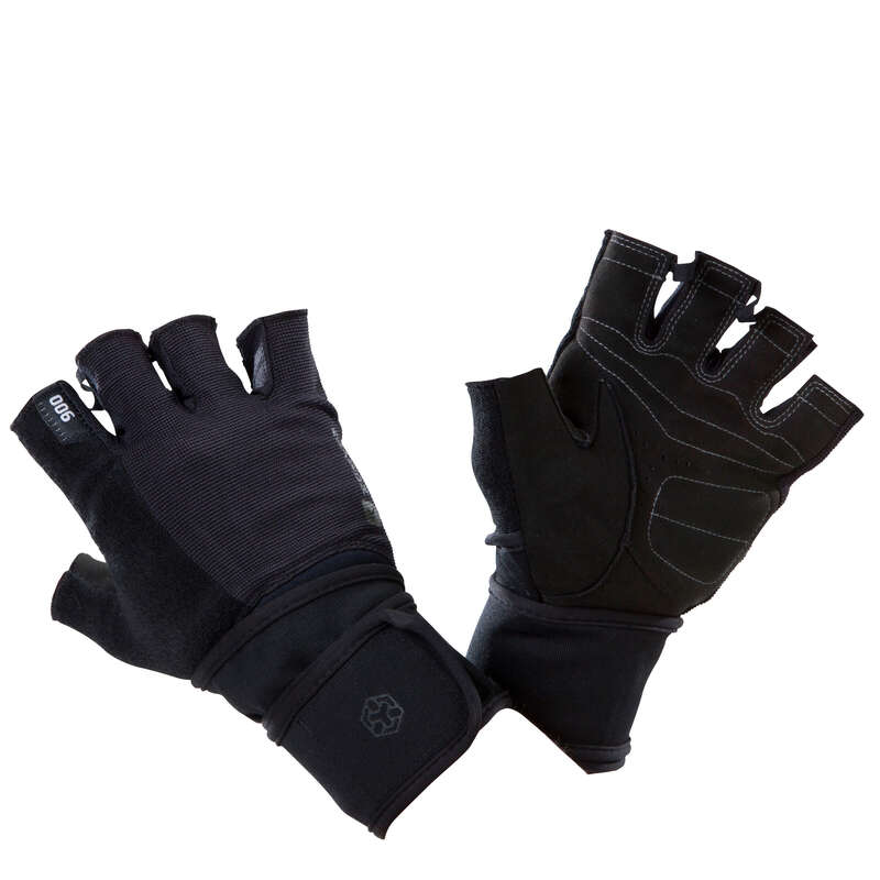 GLOVES, BELTS, APPAREL Fitness and Gym - 900 Weight Training Gloves DOMYOS - Fitness and Gym