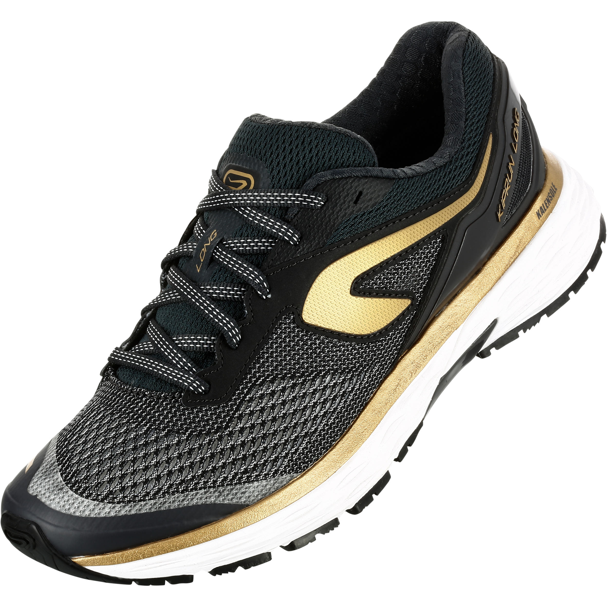 KIPRUN LONG WOMEN'S RUNNING SHOES BLACK GOLD