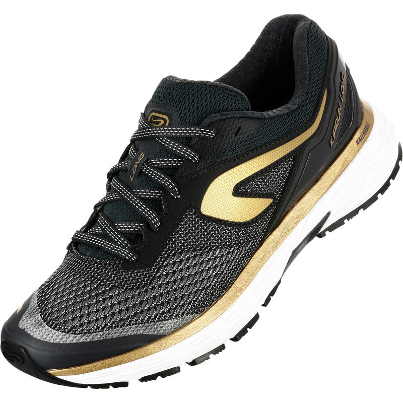promo code 3a8d2 83a81 KIPRUN LONG WOMEN S RUNNING SHOES BLACK GOLD