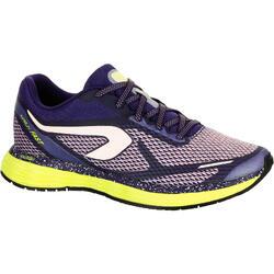 Hardloopschoenen voor dames Kalenji Kiprun Fast koraalrood/geel