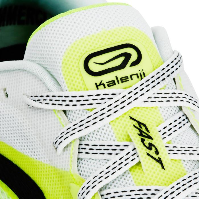 Hardloopschoenen voor heren Kiprun Fast geel/wit