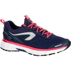 Schoenen Kiprun Long regen voor hardlopen, dames, blauw/rood