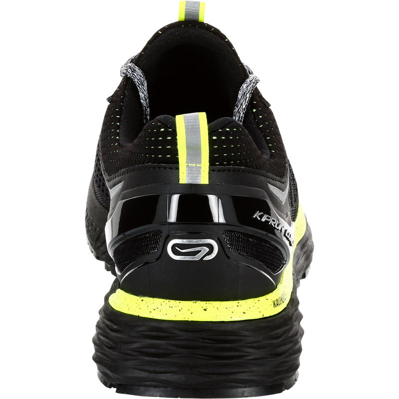 KIPRUN LONG MEN'S WATER REPELLENT RUNNING SHOES - BLACK/YELLOW