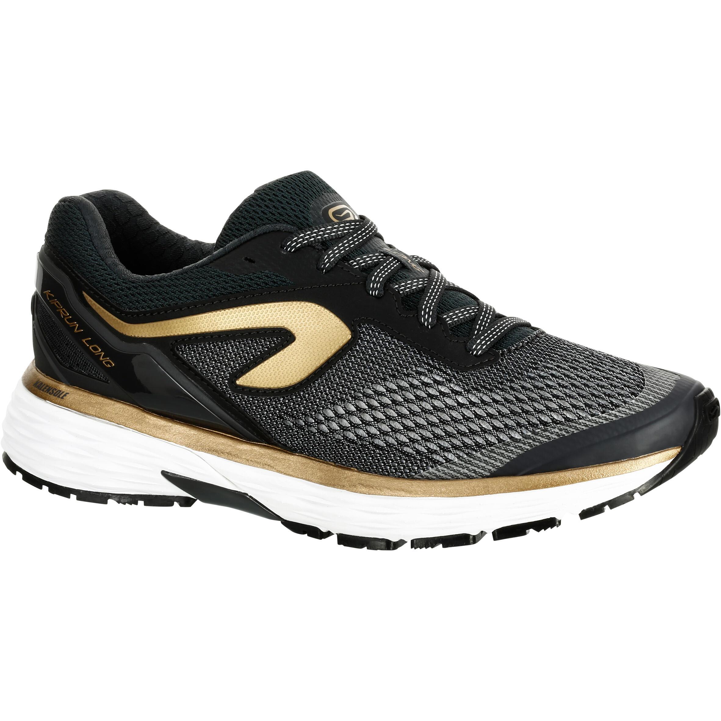 2501832 Kalenji Hardloopschoenen voor dames Kiprun Long zwart goud
