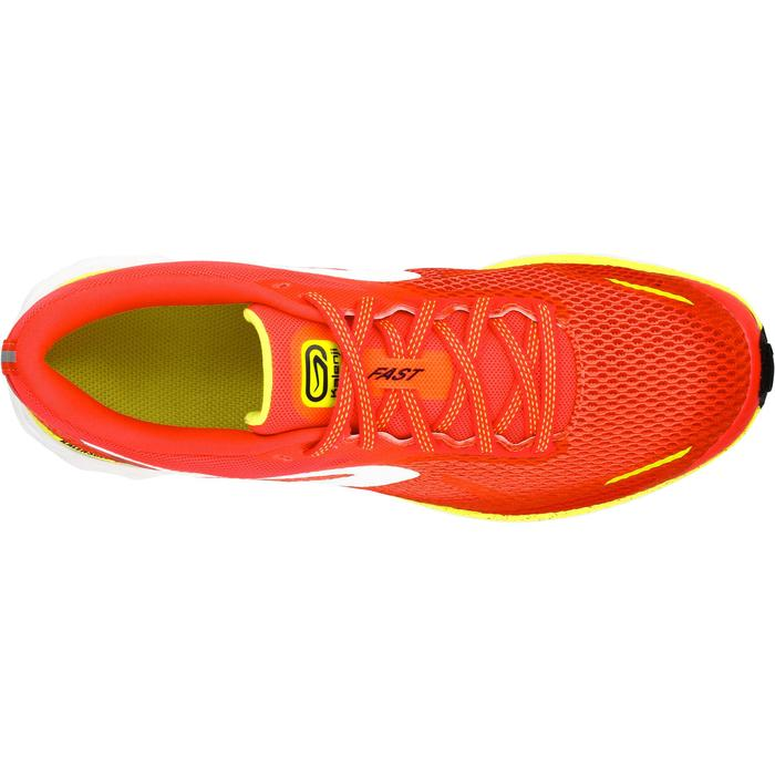 Hardloopschoenen voor dames Kalenji Kiprun Fast koraal/geel