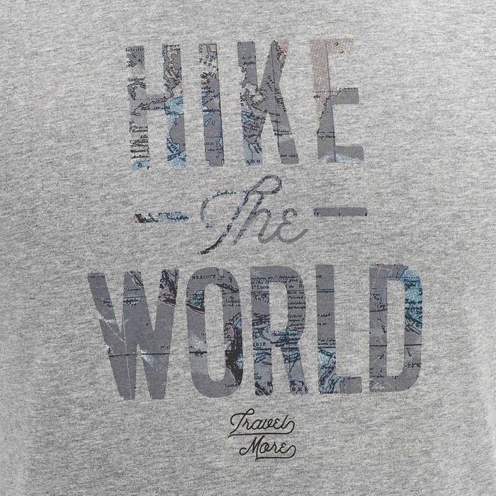 Tee shirt randonnée nature homme NH500 gris chiné