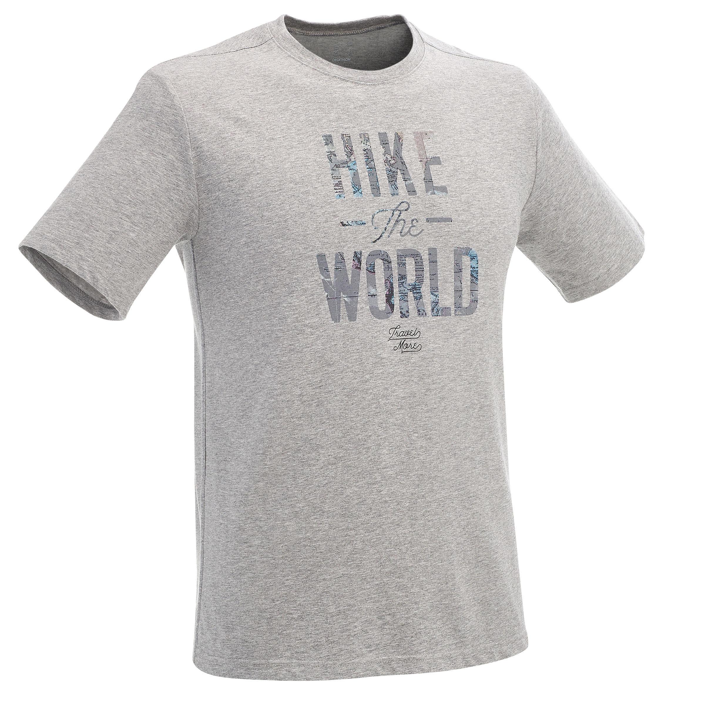 Camiseta manga corta travesía planicie hombre Tech TIL 100 gris jaspeado